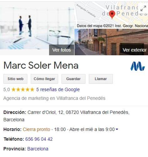 Marc Soler Mena Negocios y Marketing